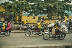 Zemidjans in Cotonou