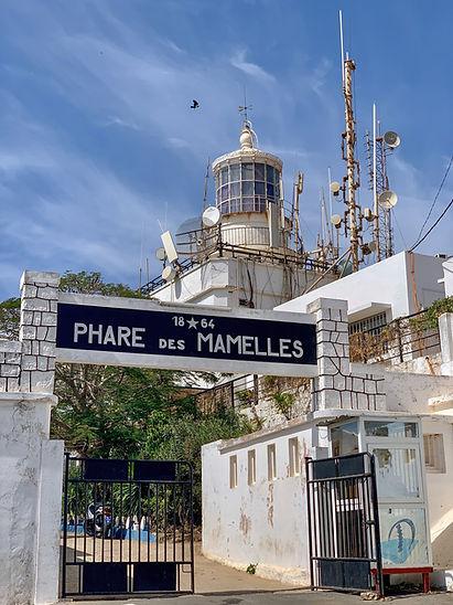 Les Mamelles Lighthouse (Phare des Mamelles) in Dakar, Senegal