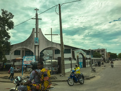 Church and Zemidjans in Benin