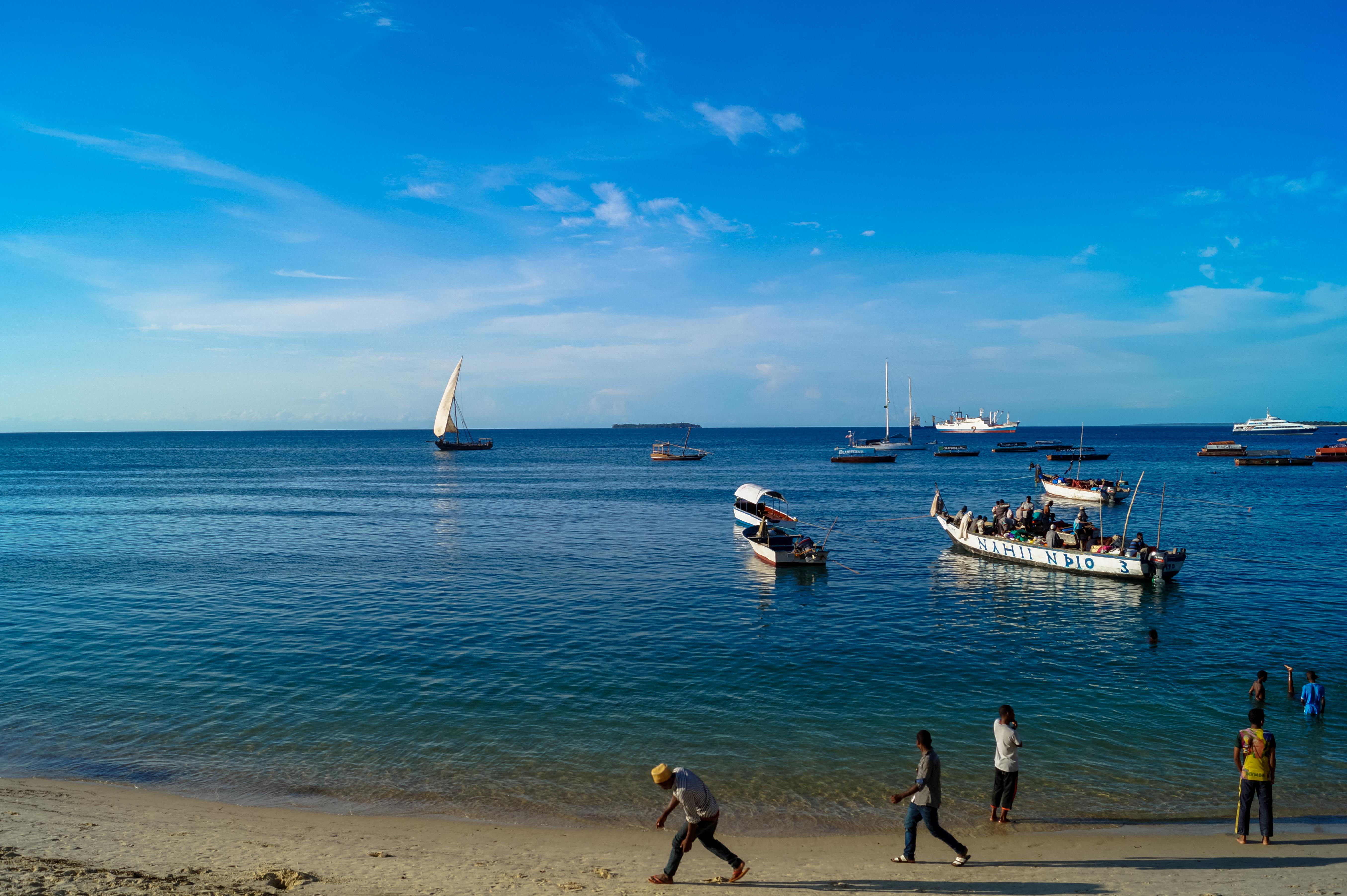 Beach in Stone Town, Zanzibar