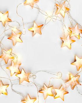 Luzes da corda da estrela
