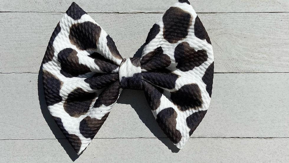 Cow Print Bow