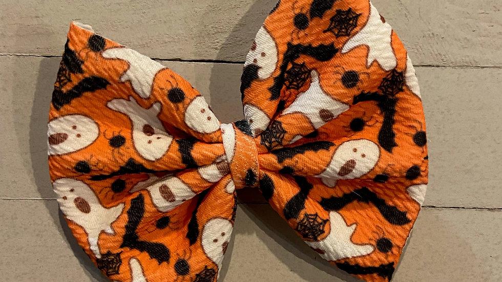 Orange Halloween Bow