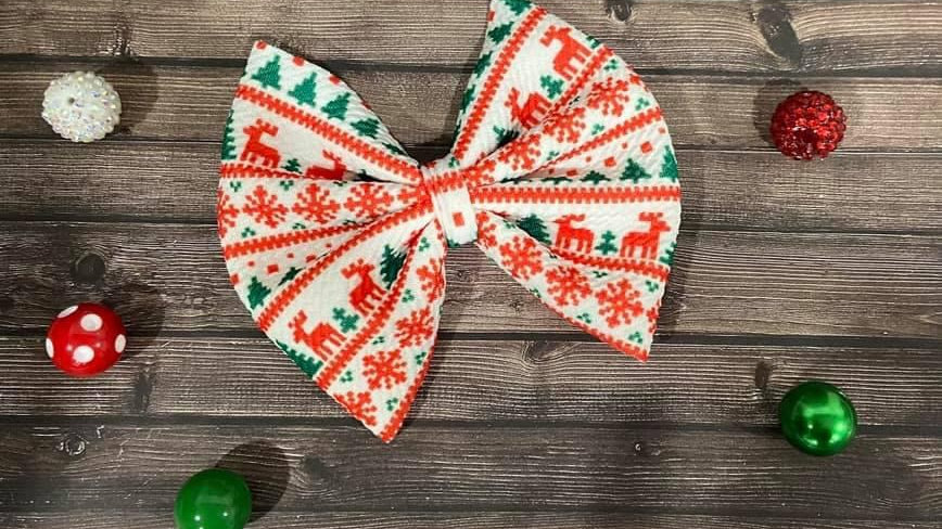 Ugly Christmas Sweater Bow