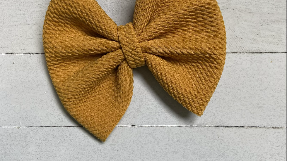 Mustard Color Bow