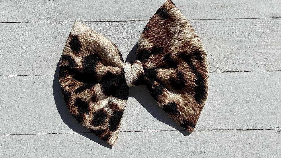 Tiger Print Bow