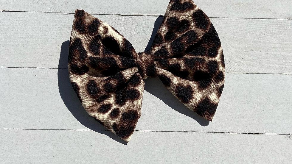 Cheetah Print Bow