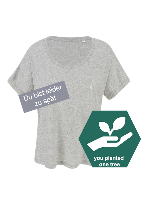 Ladie's T-Shirt – greyish clouds