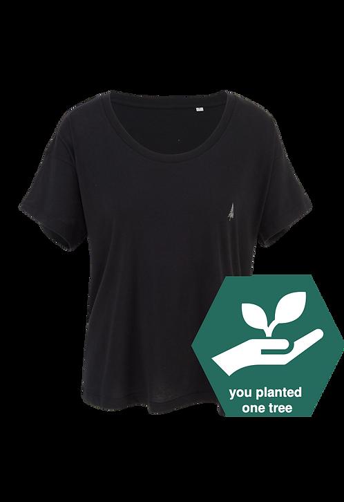 Ladie's T-Shirt- blackpanther's black