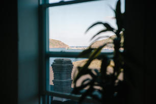 Window view of the harbour
