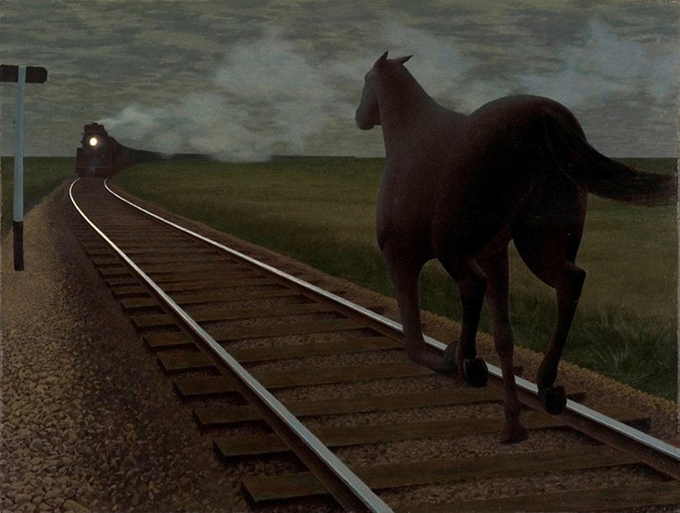 Colville_Horse and Train