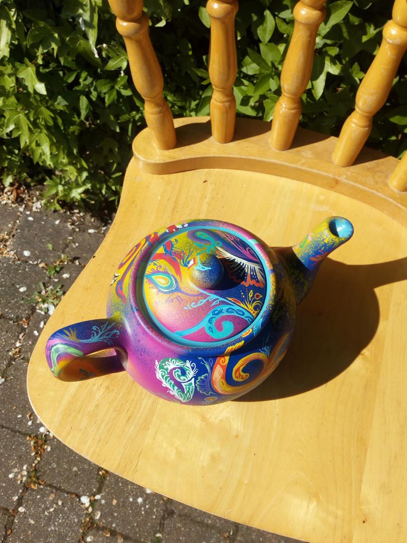 Flow doodle Teapot