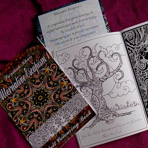 Alternative Escapism 1 - Adult colouring book