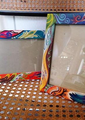 Rainbow paisley frames