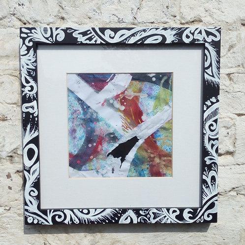 Black& white paisey art frame