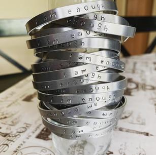 I Am Enough bracelets
