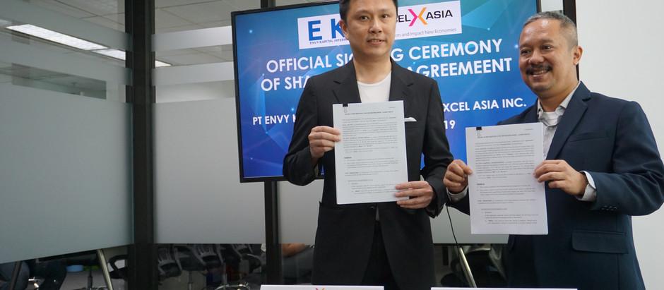 Penandatanganan Memorandum of Understanding antara IDX Incubator & Xcel Asia & PT Envy Technologies