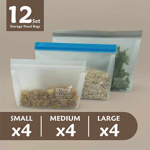 12 Set Storage Food Bags