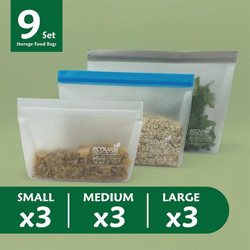 9 Set Storage Food Bags