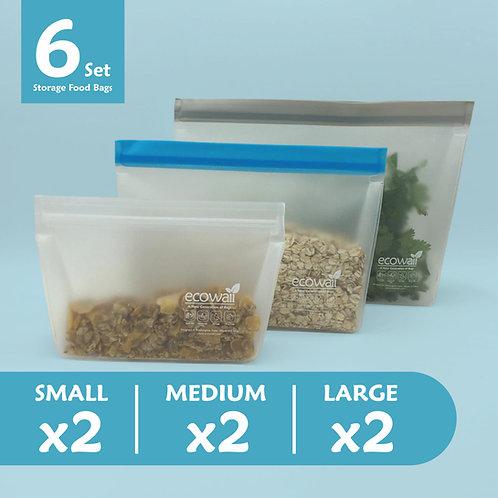 6 Set Storage Food Bags