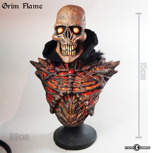 Caveira Decorativa decoracao Flame Enigma Urbano