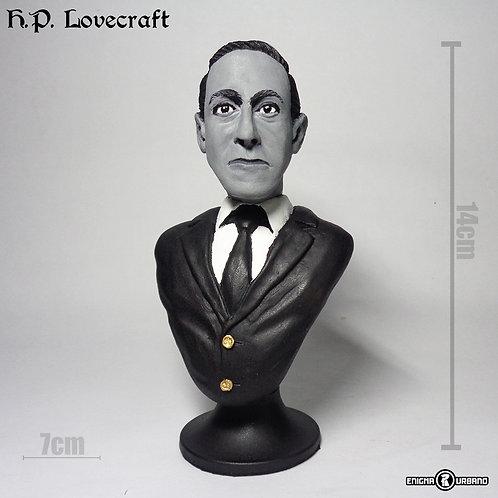 Lovecraft H. P. Lovecraft Enigma Urbano Busto Em Resina