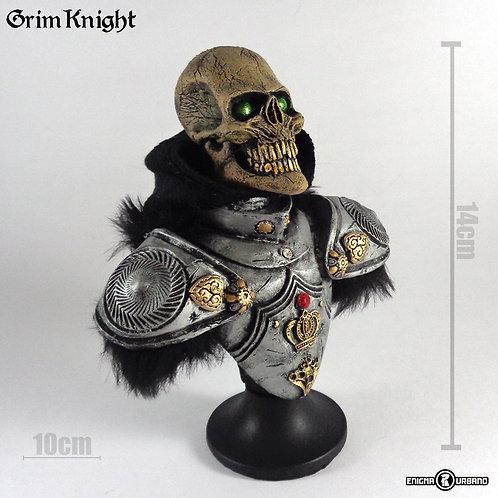 Caveira resina Silver Knight busto