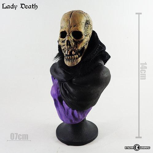 Caveira Decorativa morte Skull Lady Death Enigma Urbano