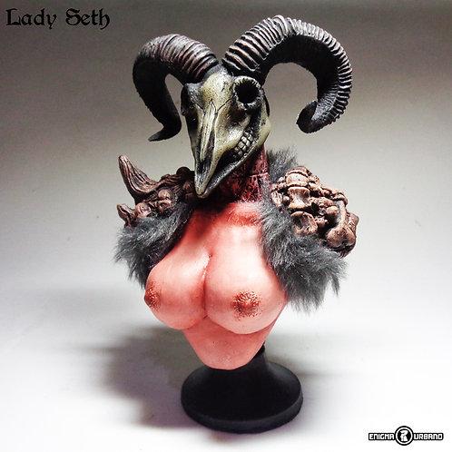 Caveira De Bode Lady Seth Busto Enigma Urbano