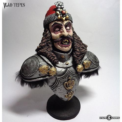 Vlad Tepes Dracula busto em resina