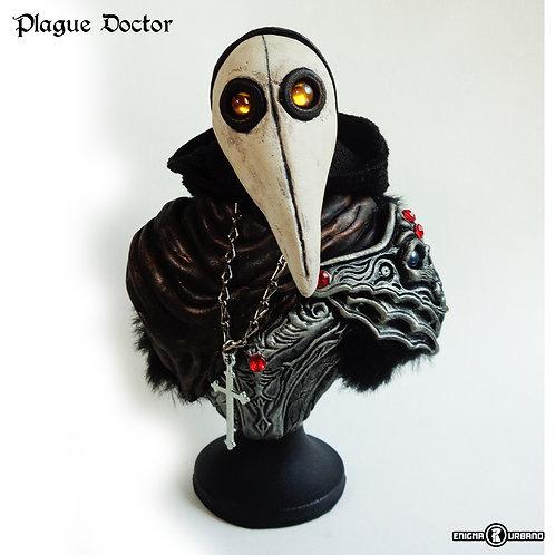 medico da Peste Negra Mascara Doutor Da Praga Busto plague doctor