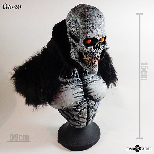 Exu Caveira de Resina Raven Enigma Urbano