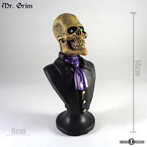 Caveira Resina decoracao busto Mr. Grim