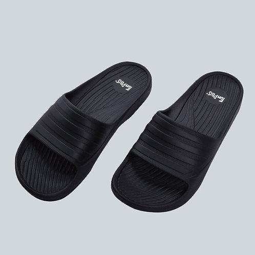輕量減壓休閒拖鞋-黑