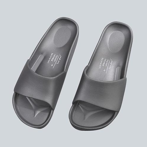 流線活力室外拖鞋-鐵灰