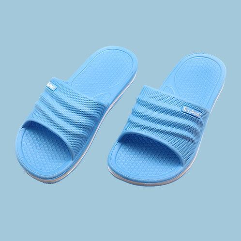 樂活休閒中性拖鞋-水藍