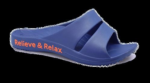 簡約休閒雙帶室外拖鞋-深藍