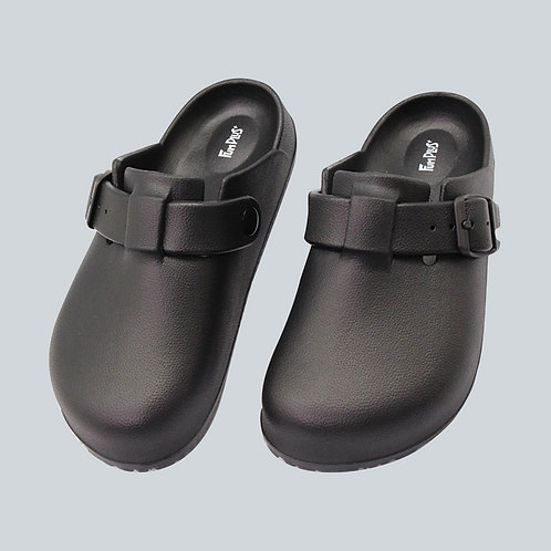 樂活包頭室外拖鞋-黑