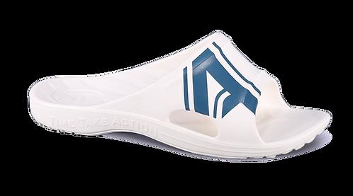 潮感個性足弓拖鞋-白藍