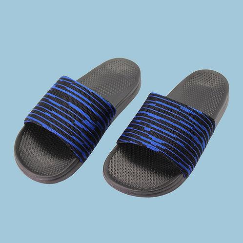 極簡質感室外拖鞋-深藍