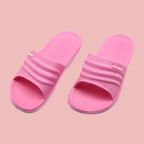樂活休閒中性拖鞋-桃