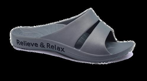 簡約休閒雙帶室外拖鞋-鐵灰