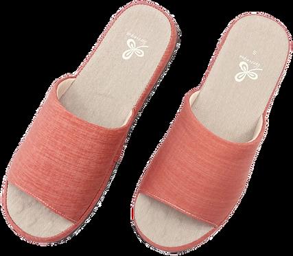 冰咖啡紗舒壓乳膠室內拖鞋-紅