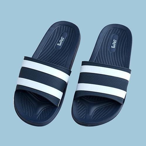 迷霧線條休閒拖鞋-藍