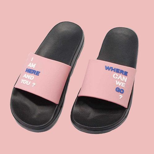創意玩色室外拖鞋-粉