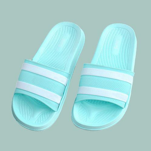 迷霧線條休閒拖鞋-綠