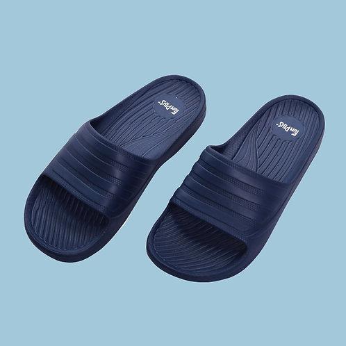 輕量減壓休閒拖鞋-藍