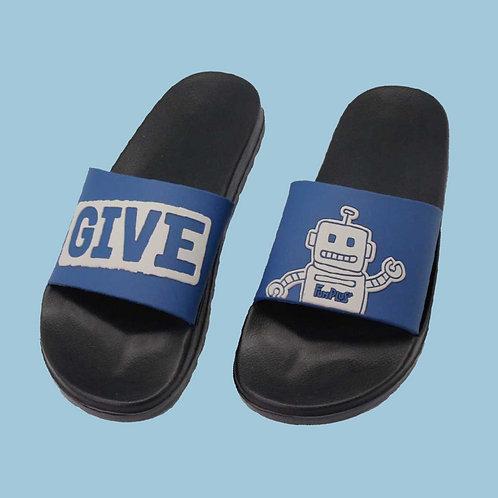 卡隆機器人室外拖鞋-藍