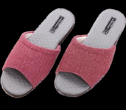 時尚華麗竹炭乳膠拖鞋-紅