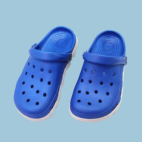 極簡俐落室外拖鞋-藍